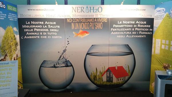 Pannello Stand Nerò H2O a fieramente agricola 2017